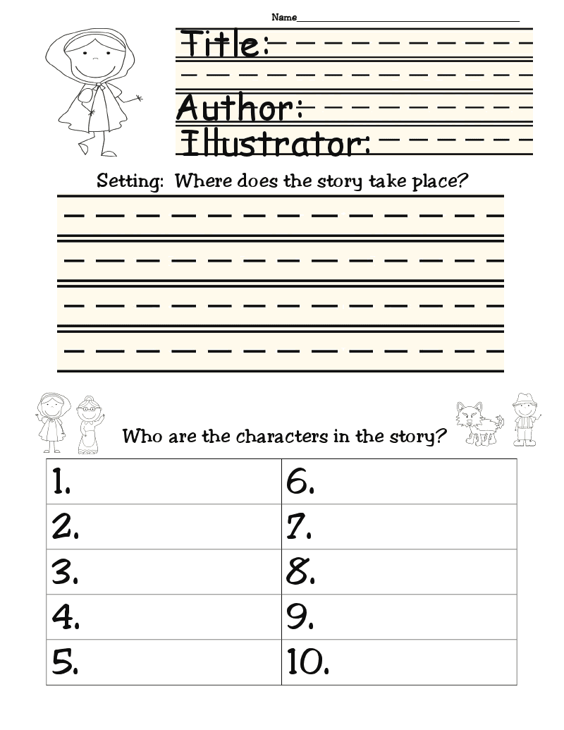 Short story elements worksheet pdf – Elements of a Short Story Worksheet
