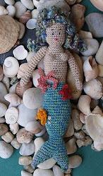 Sirena tejida en crochet