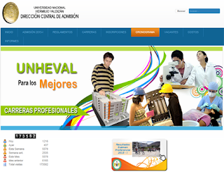 Resultados examen UNHEVAL 2015 II Examen Universidad Nacional Hermilio Valdizán de Huánuco UNHEVAL 29 de Marzo