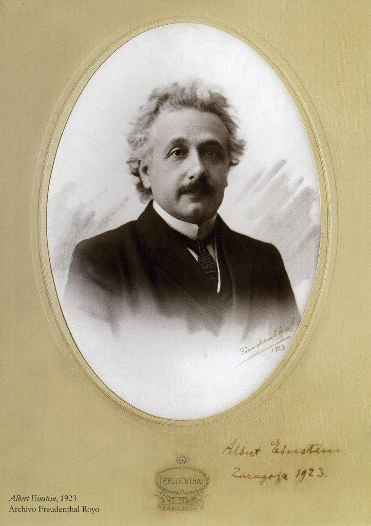 Retrato de Albert Einstein en Zaragoza