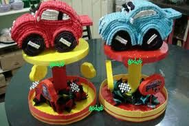 Children parties, cars centerpiece decorations