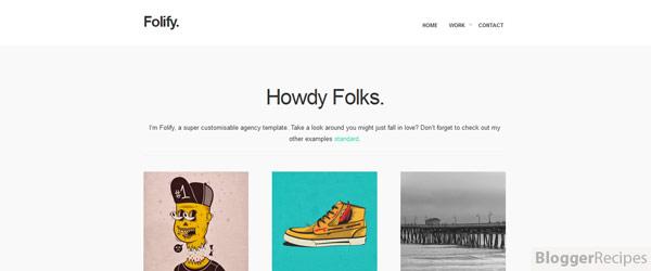 Folify Blogger Template