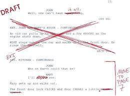 Picture of a film script