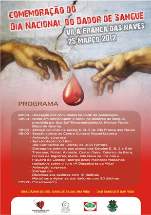 DIA NACIONAL DO DADOR DE SANGUE  25/03/2012