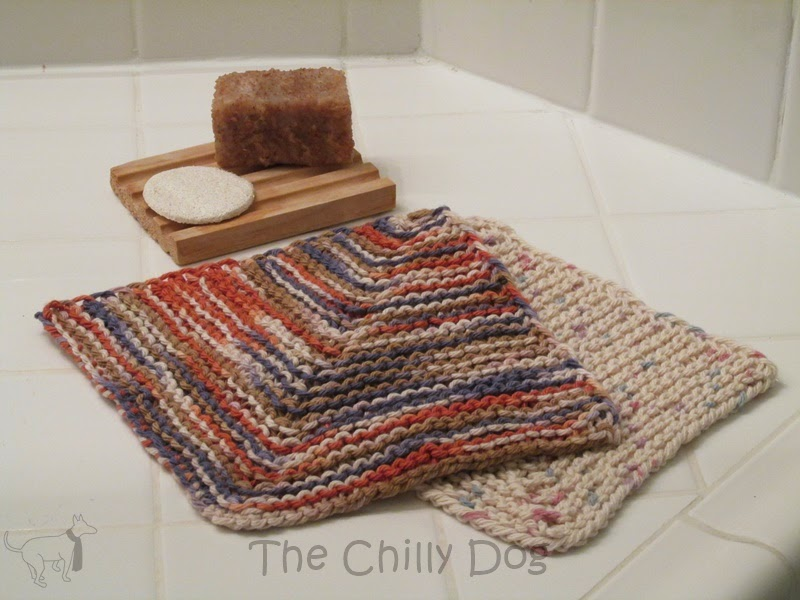 Knitting Patterns For Baby Washcloths : Knit Pattern: Mitered Washcloth The Chilly Dog
