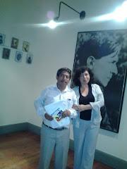 Con Juan Benavente, coordinador de la Casa Mariátegui...