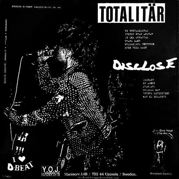 Totalitär / Disclose - Disclose / Totalitär - Split LP