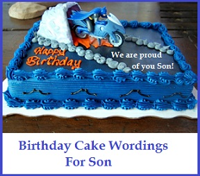 Birthday Cake Wordings Ideas! : Son