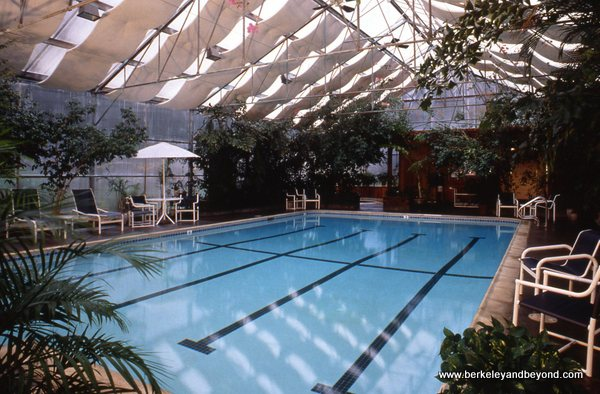 indoor pool at Stanford Inn by the Sea in Mendocino, California