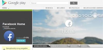 Facebook Home Celulares