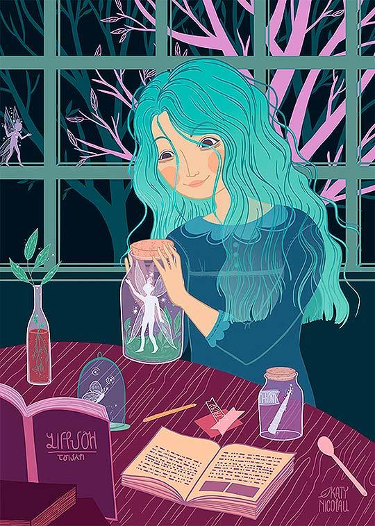 Ilustración, Criaturas del bosque de Katy Nicolau