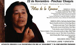 """""""Patios de la Ramona"""" Encuentro de Poetas – Celebración de la palabra 22 de noviembre Pinchas/Chuqu"""