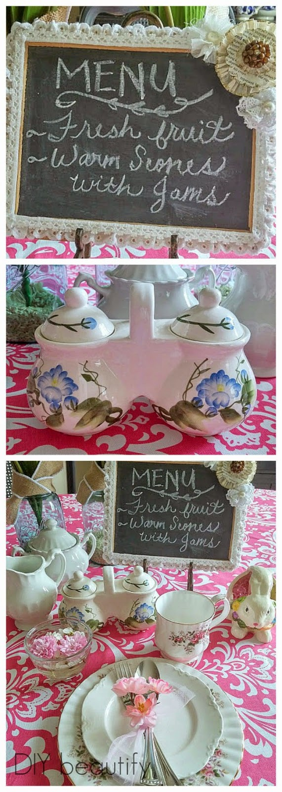 Easter breakfast table setting www.diybeautify.com