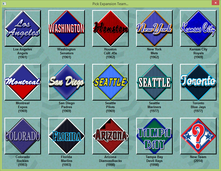 The Game Designer: Creating an Expansion Team (Baseball Mogul)