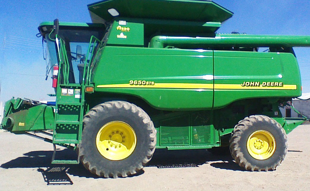 Maquinaria agricola industrial trilladora john deere 9650sts 55 500