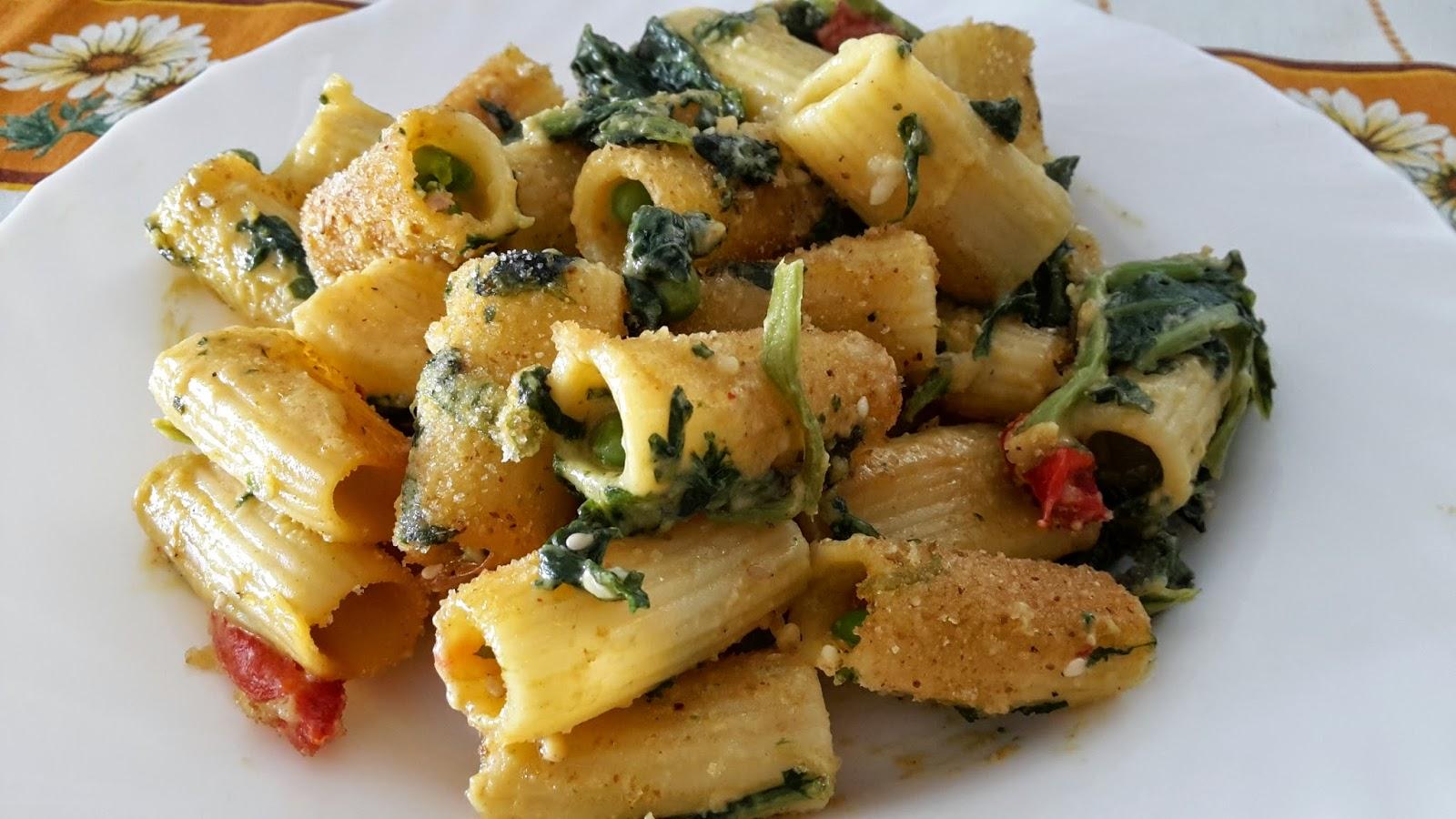 pasta al forno con verdure e sesamo