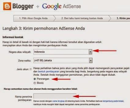 Cara Daftar Google Adsense Via Blogger