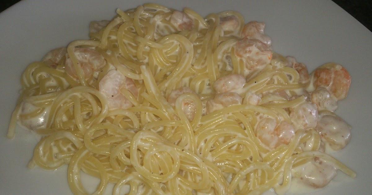 Cocinando contigo espaguetis con gambas y nata - Espagueti con gambas y nata ...