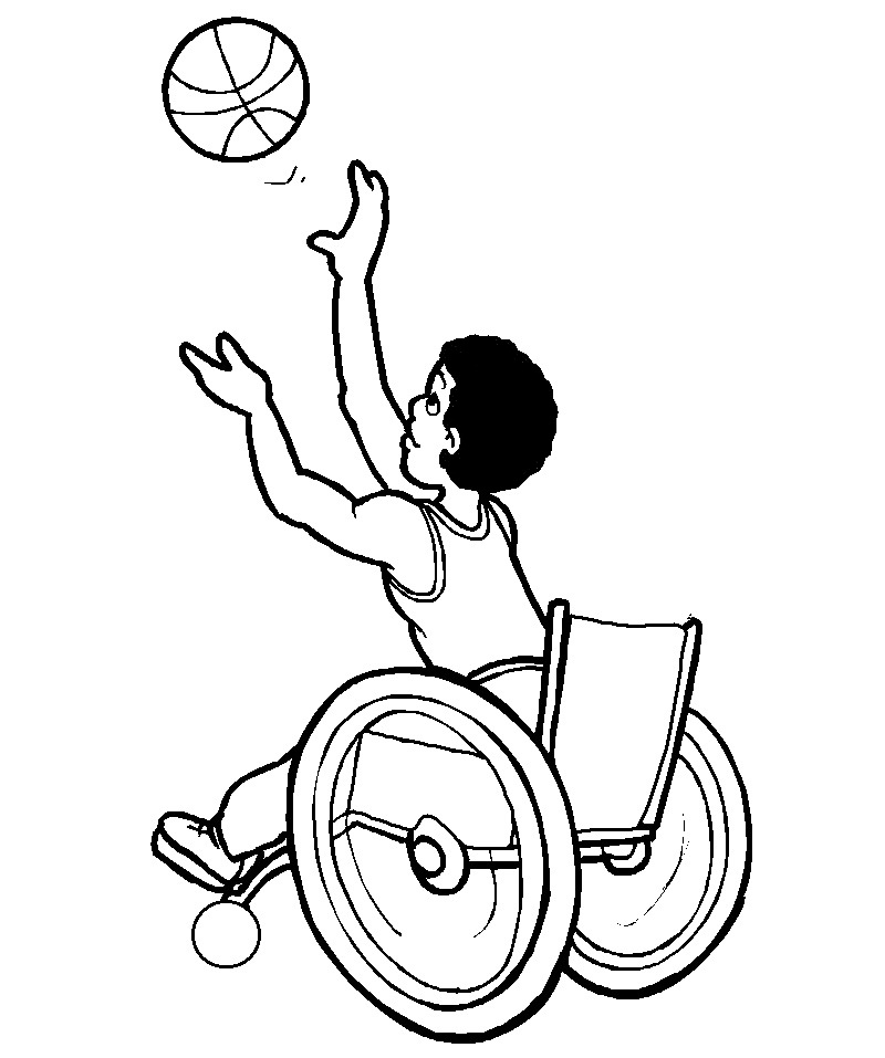 People With Disabilities Coloring Pages Source Kids