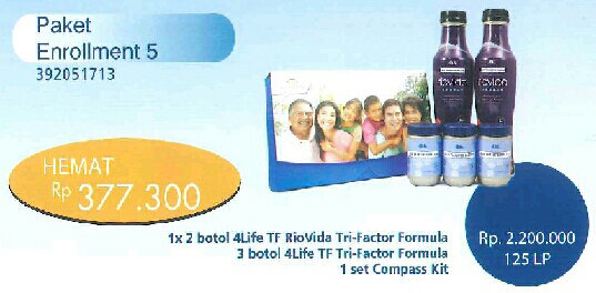 Paket Enrollment 5 4Life Transfer Factor