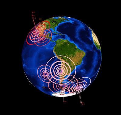 Actividad sismica América en Abril de 2012