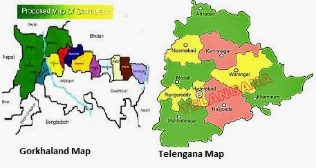 Comparing demand for Gorkhaland with that of Telangana