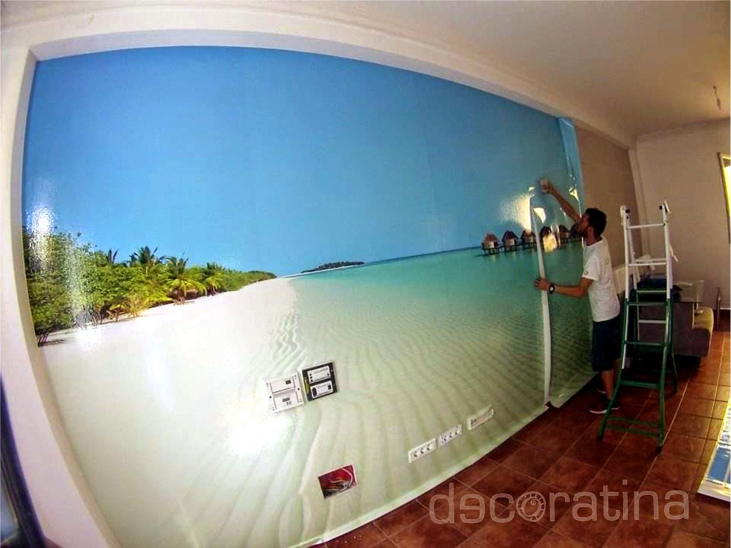 Decoratina vinilos decorativos en las palmas foto mural pared for Vinilos decorativos pared 3d