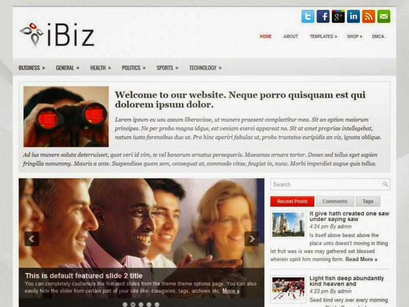 iBiz - Free Wordpress Theme