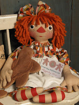 Raggedy Ann with Gingerbread Cookie