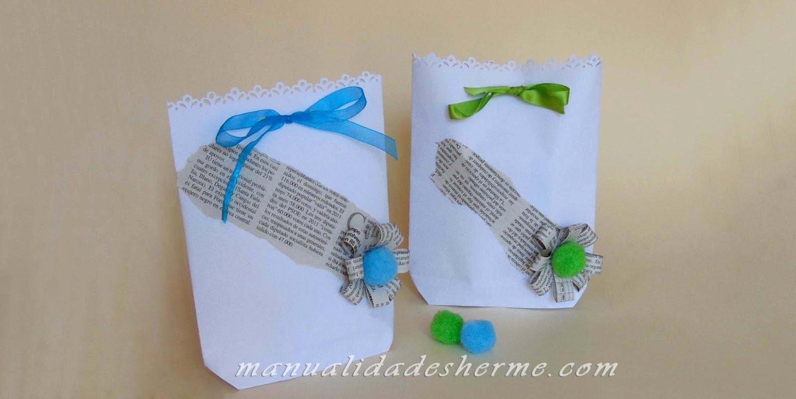 Manualidades herme como hacer bolsas de papel para regalo - Como hacer bolsas de regalo ...