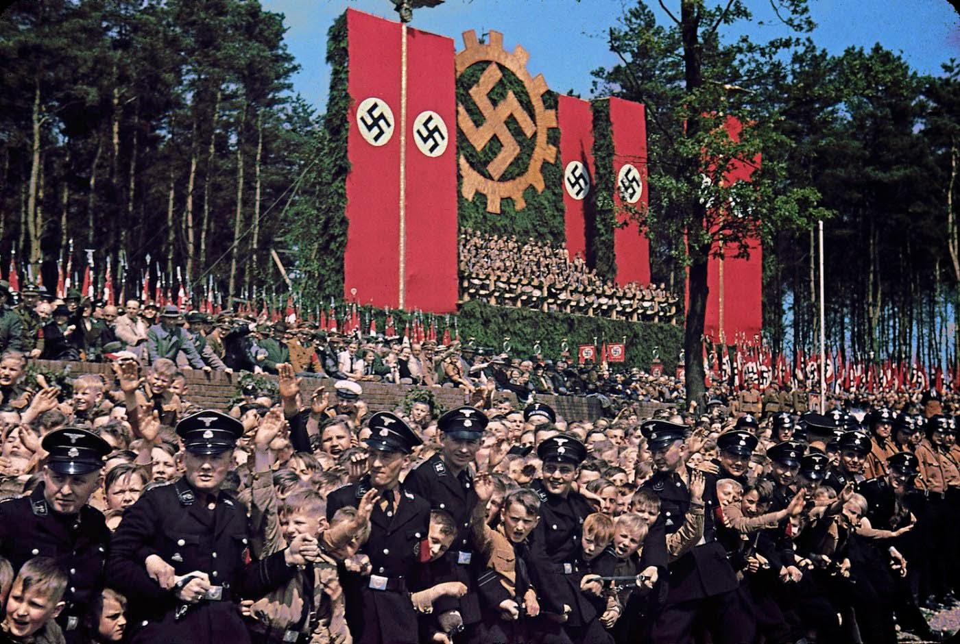 Another image from Volkswagen Works cornerstone ceremony, near Wolfsburg, 1938.