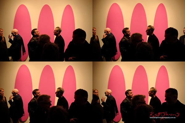 David Serisier Gallium Sky exhibition - in conversation. Magenta Ovals - photographed by Kent Johnson.
