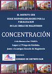 CONCENTRACIÓN - CONVOCA EL CONSEJO DEL DISTRITO SUR