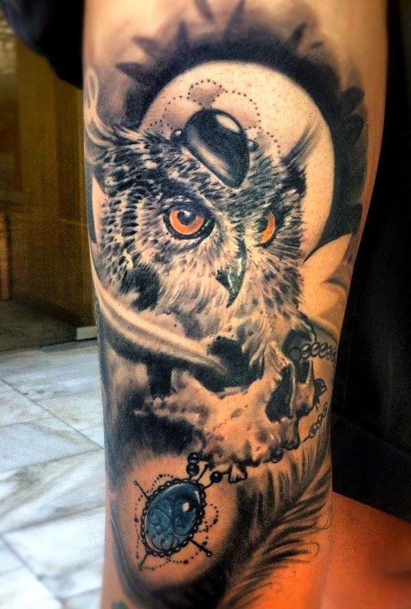 Eso es realmente la manera más sabia para conseguir cualquier tatuaje, y el búho como animal símbolico de tanto poder , magia y sabiduría, no merece menos.