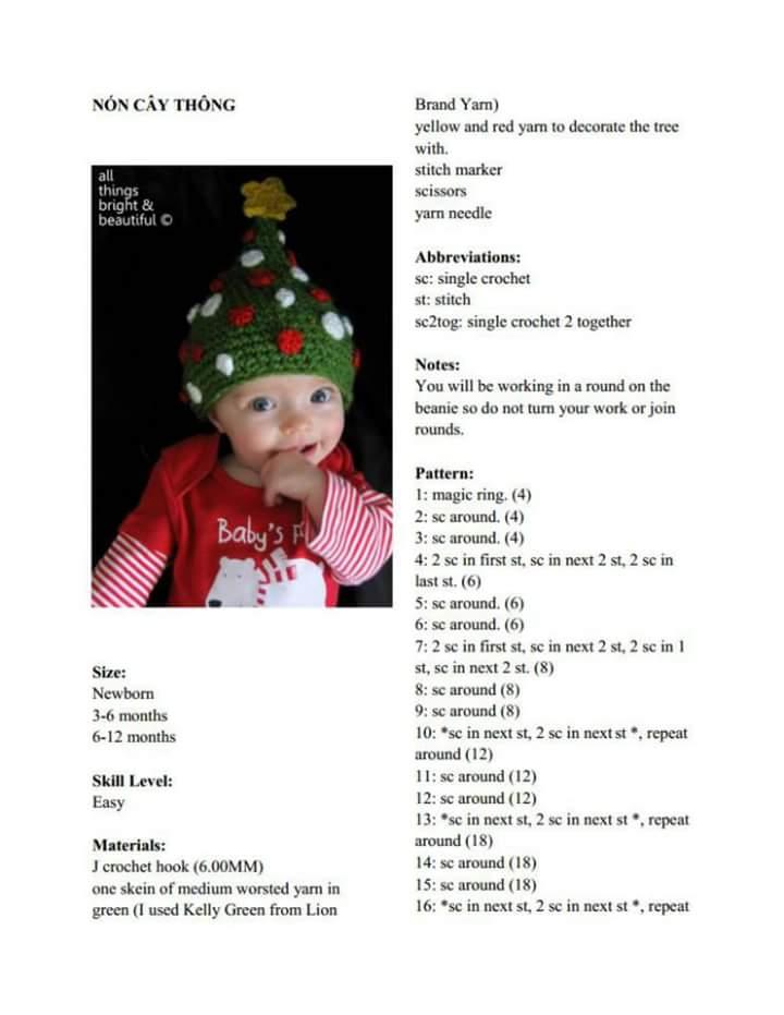 Los Amigus de Paloma: Gorro Arbolito de Navidad (Patrón Gratis)