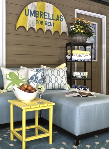 coastal yellow decor