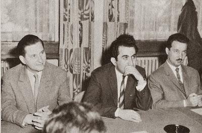 Keres, Petrosian y Gligoric en el Torneo Internacional de Ajedrez Zúrich 1961