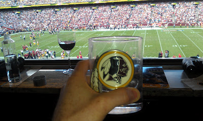 View from Daniel Snyder's owner's box at FedEx Field