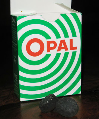Opal green licorice candy iceland