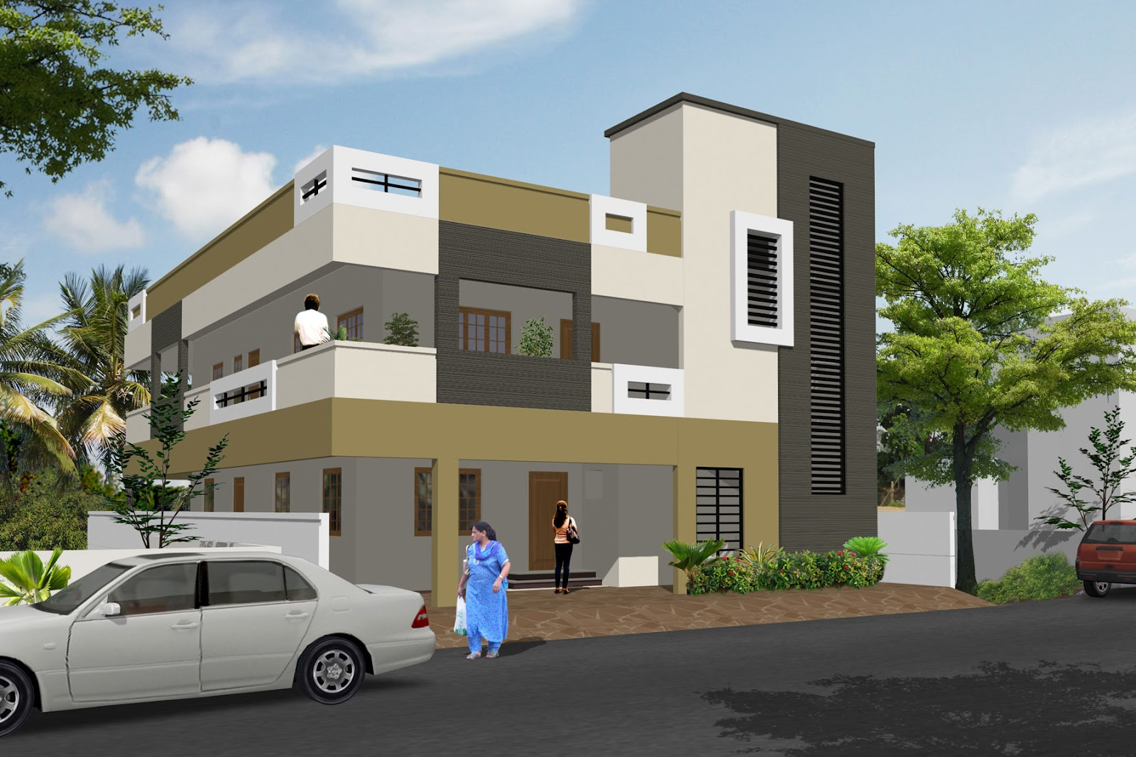 Residential building elevation joy studio design gallery for Residential pictures