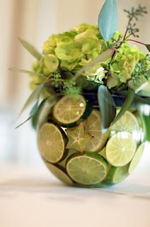 vase decor with fruit
