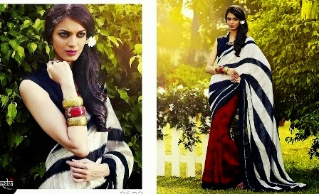 Two Shaded Indian Saree Designs