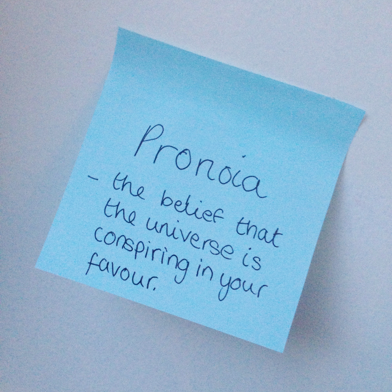 word of the week pronoia
