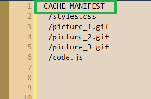 The Application Cache of HTML5
