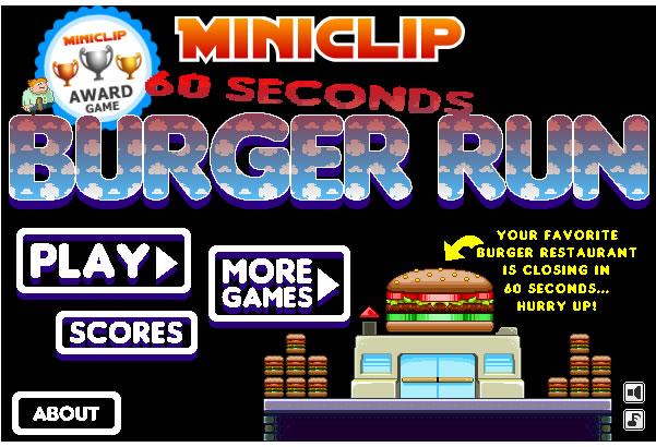 Game : 60s BurgerRun