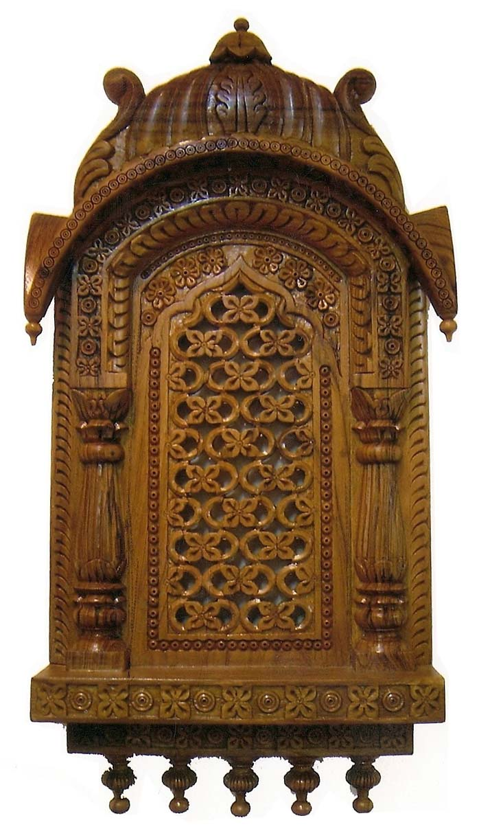 Carved wooden furniture of barmer in rajasthan india