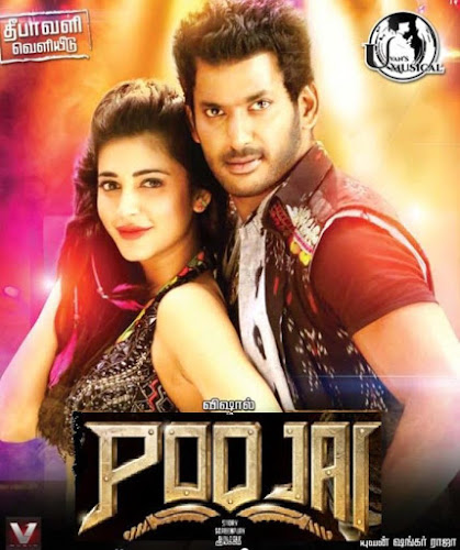 Poster Of Poojai Tamil Movie Hindi Dubbed 100MB HEVC Mobile Movie Watch Online Free Download
