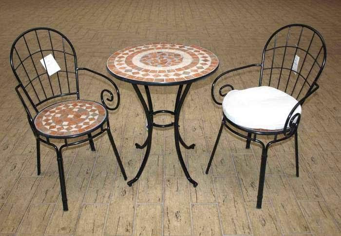 Muebles de forja conjuntos peque os de mesa y sillas forja - Mesas de jardin de forja ...