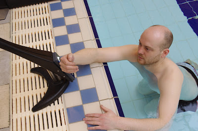Wristbands are provided to users to enable them ti control all movements of the Poolpod