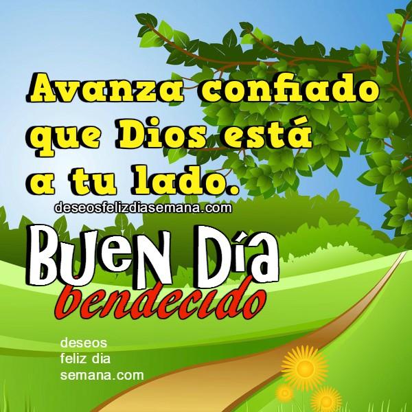 mensaje cristiano corto de buenos días con bonita imagen cristiana, bendiciones, buen día para ti y para mí, buenos deseos para este día viernes, sábado, domingo...